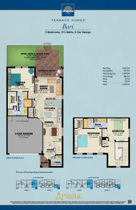Artesia Bari Model Sunrise New Homes Florida Minto