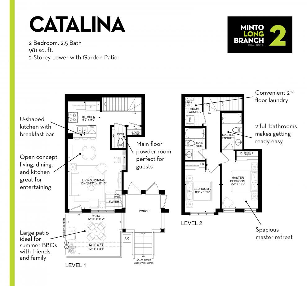 Minto Group Inc Floor Plan Feature The Catalina