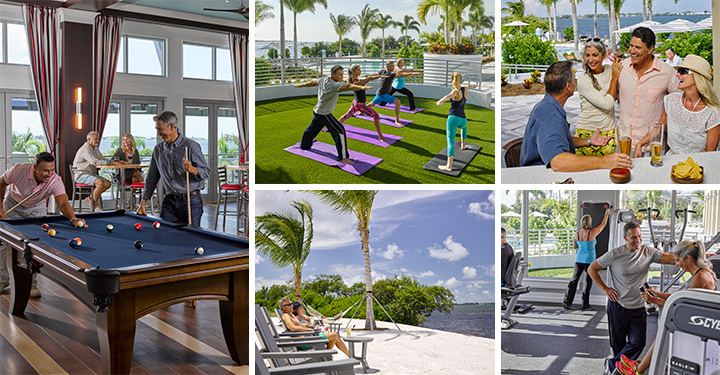 Stay active and enjoy resort style living  in the Harbour Isle community