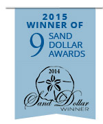 Winner of 9 Sand Dollar Awards