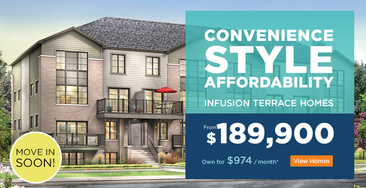 Infusion Terrace Homes: Hot deals, Cool offer.