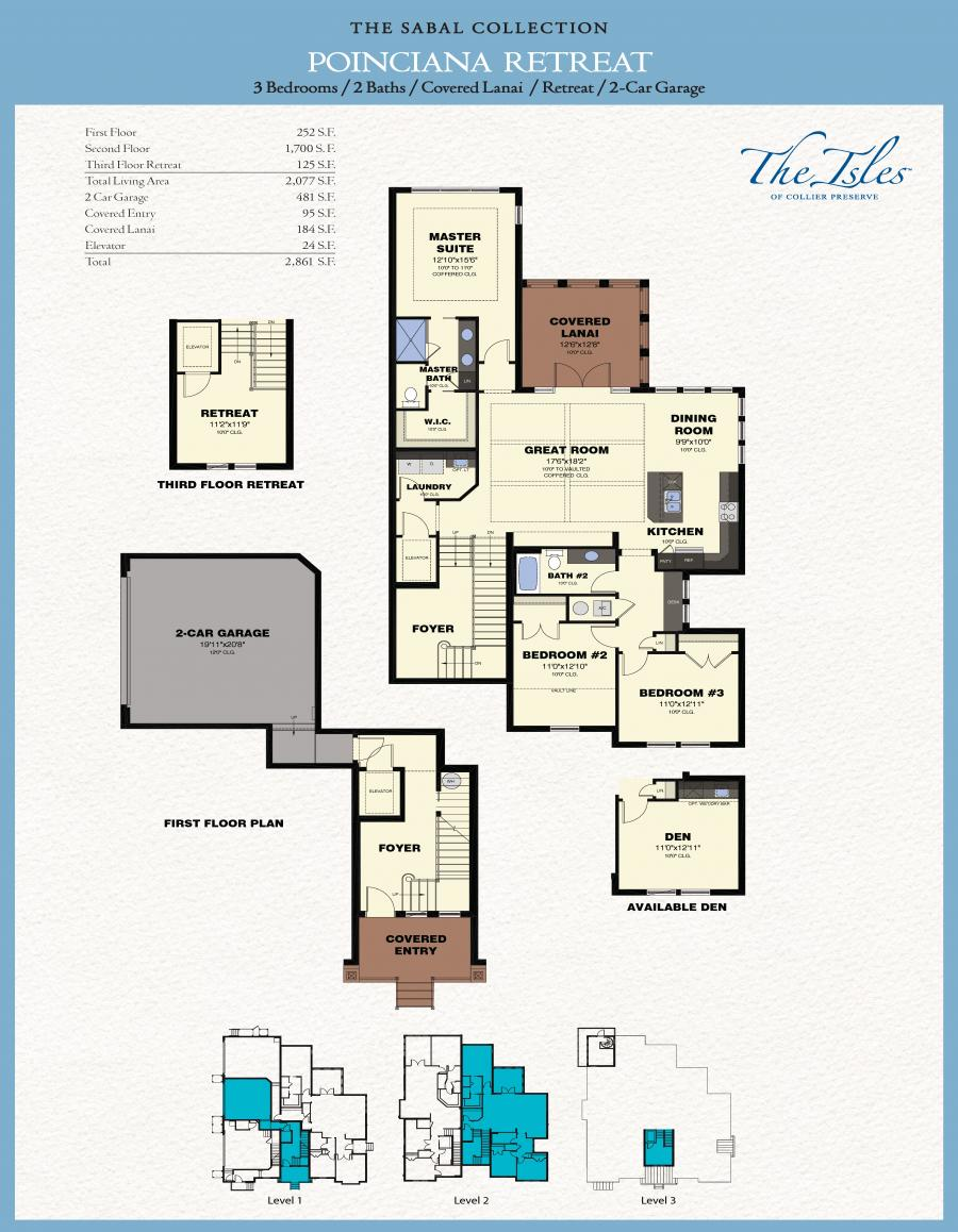 The isles of collier preserve poinciana retreat for The retreat floor plans