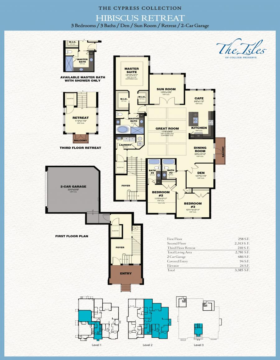 The isles of collier preserve hibiscus retreat new for The retreat floor plans