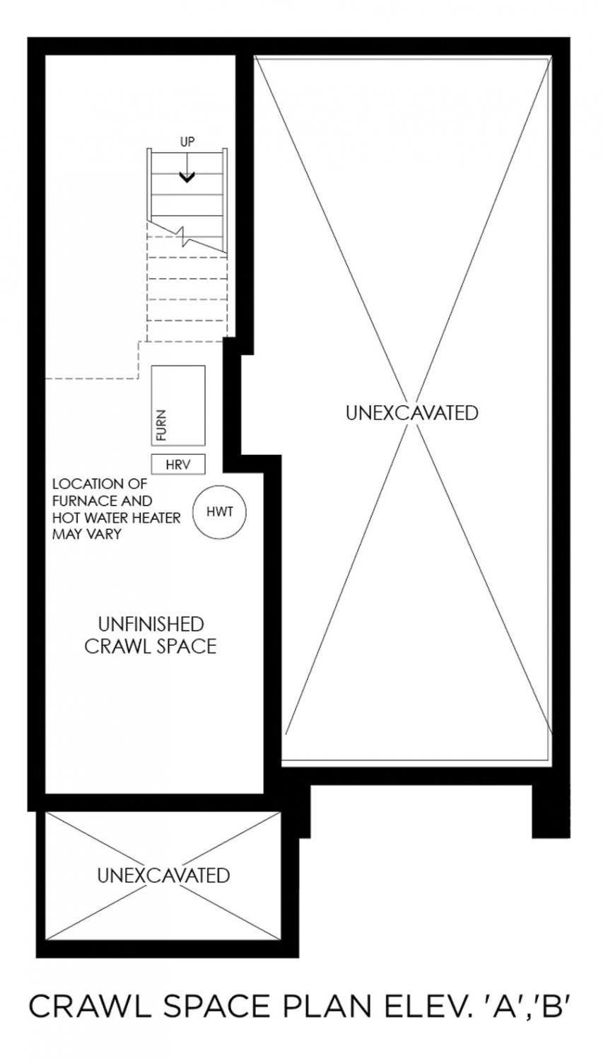 Minto group inc buy a home in toronto oakvillage for Crawl space house plans