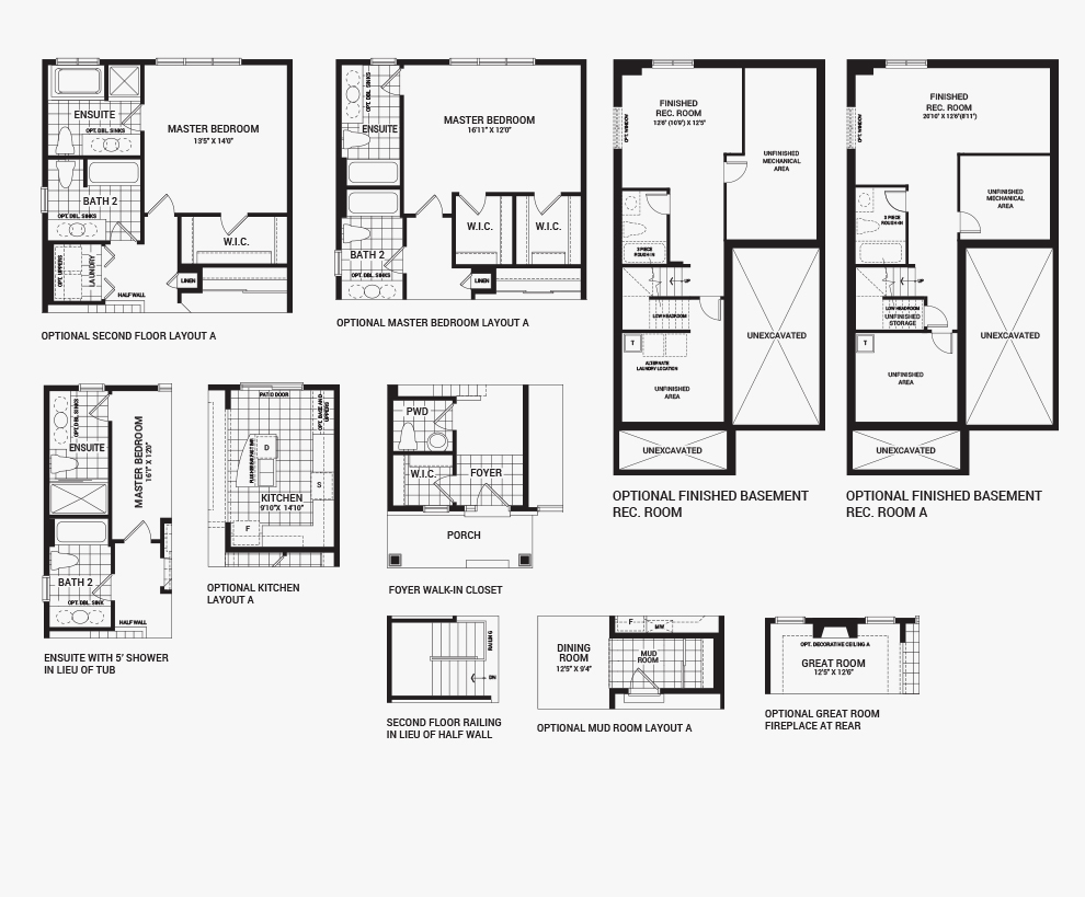 Potters key the hyde single family homes stittsville for Hyde homes floor plans