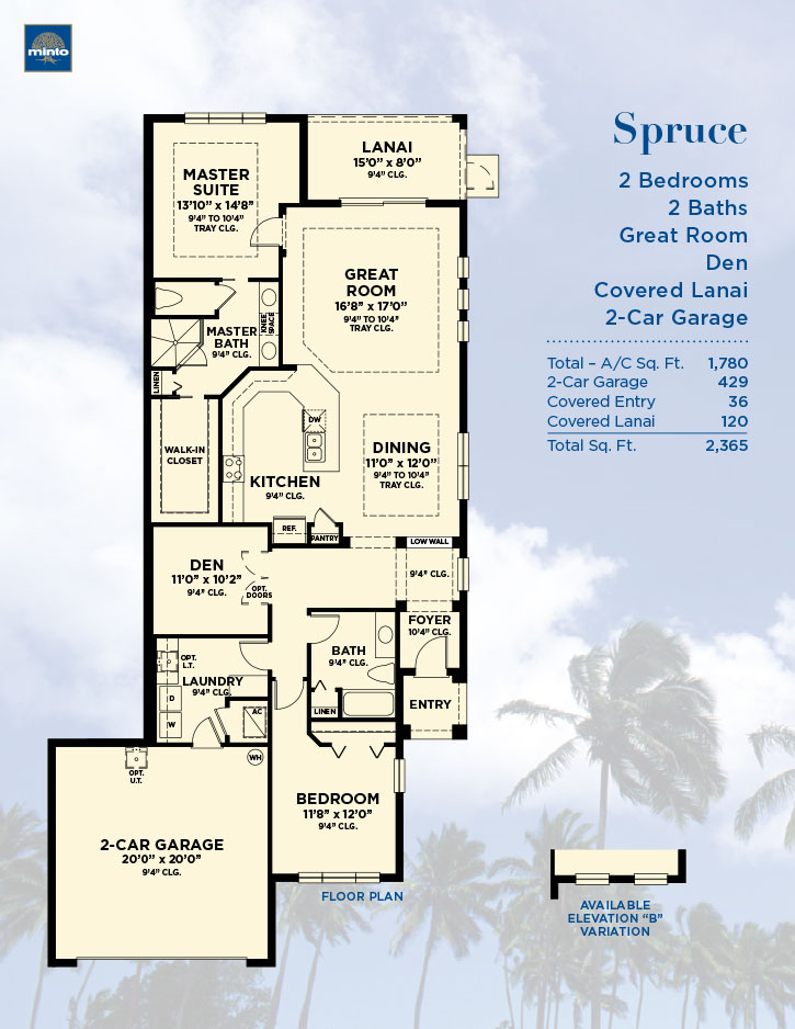 Spruce Model Paired Villas By Minto Tampa New Homes