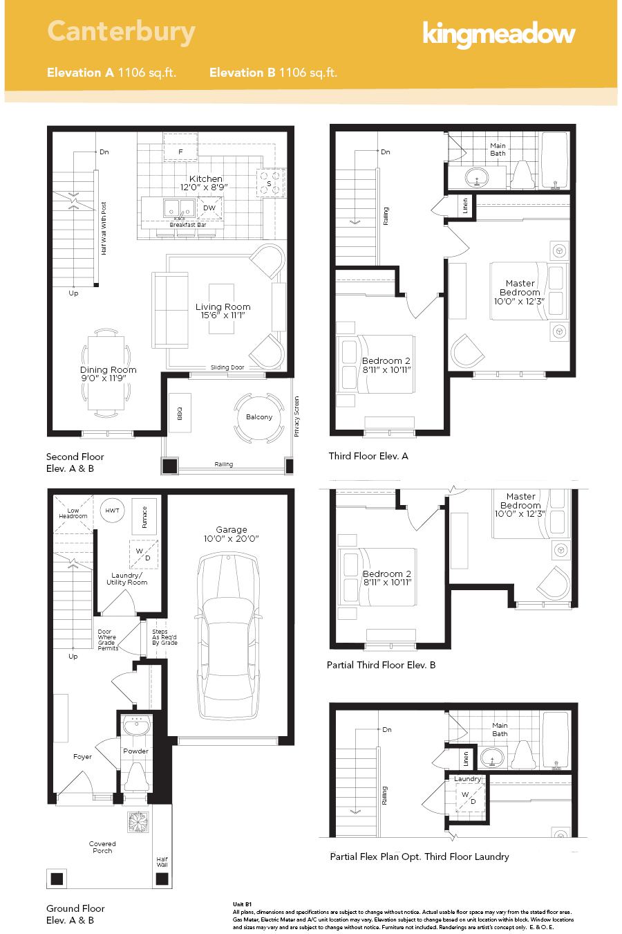 Kingmeadow canterbury townhome oshawa new homes minto Canterbury floor plan