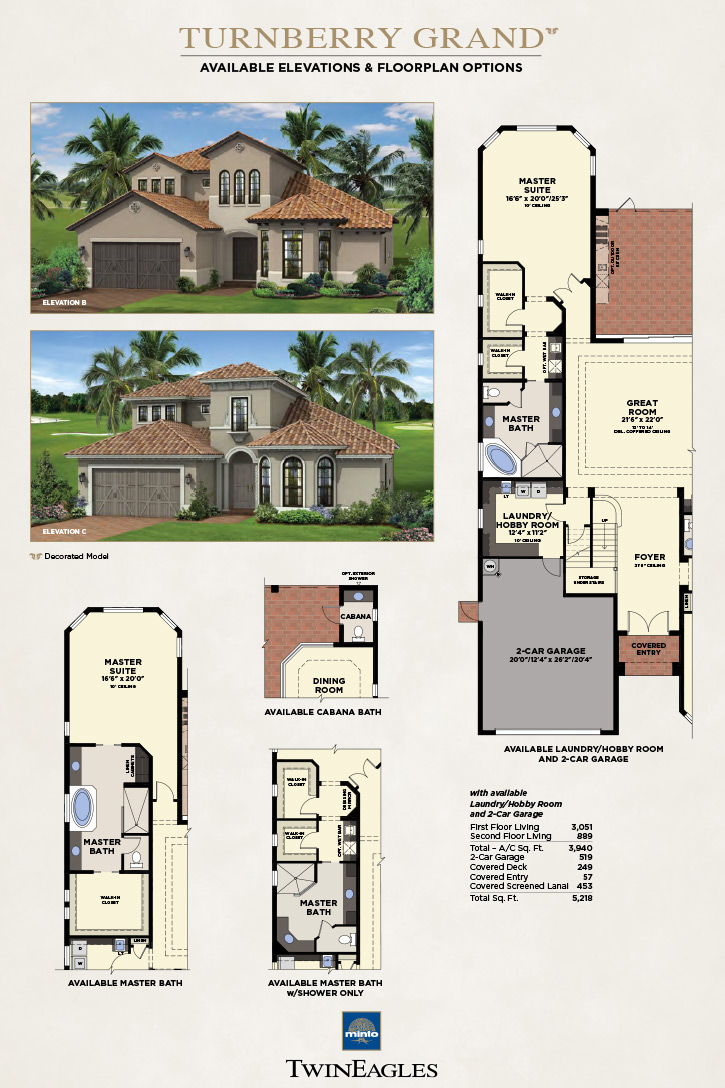 Twineagles Turnberry Grand Model New Homes In Naples