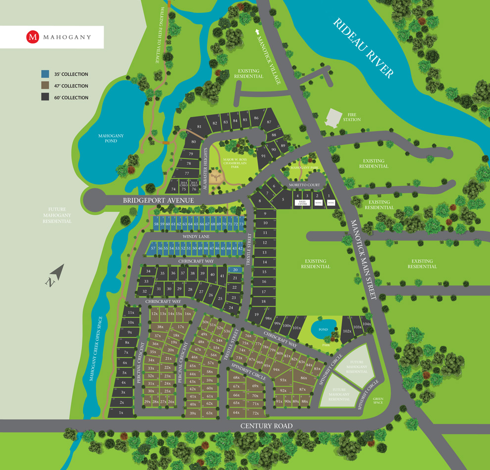Website Site Map Examples: Mahogany - About Mahogany - New Homes In Ottawa