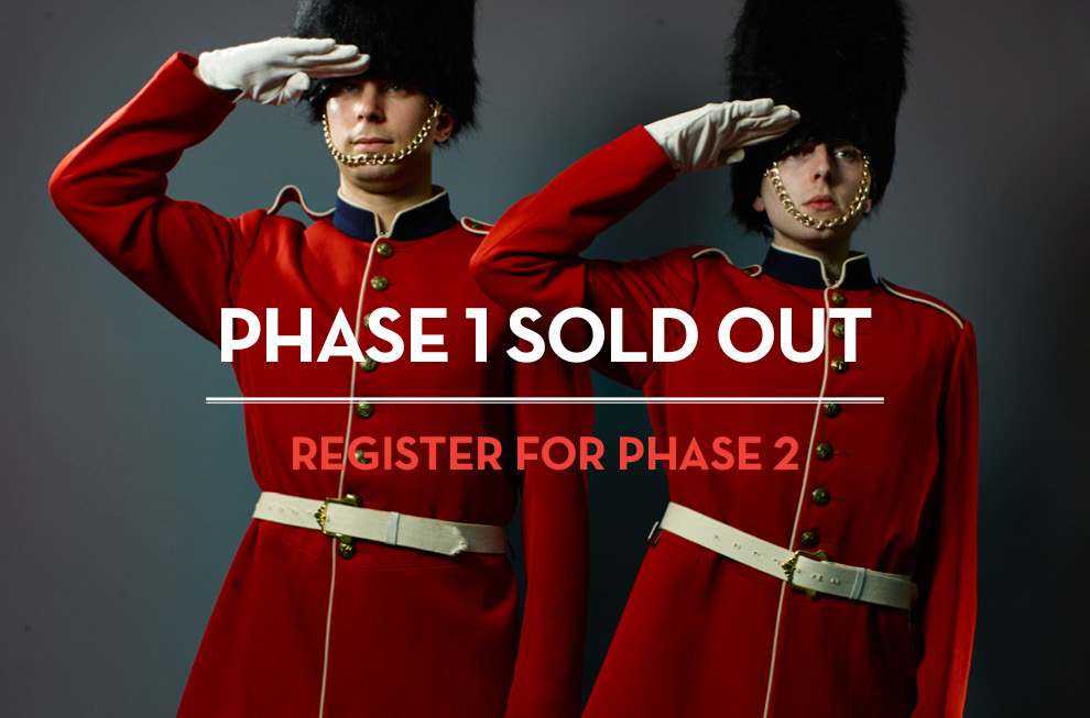 Phase 1 Sold Out, Register for phase 2