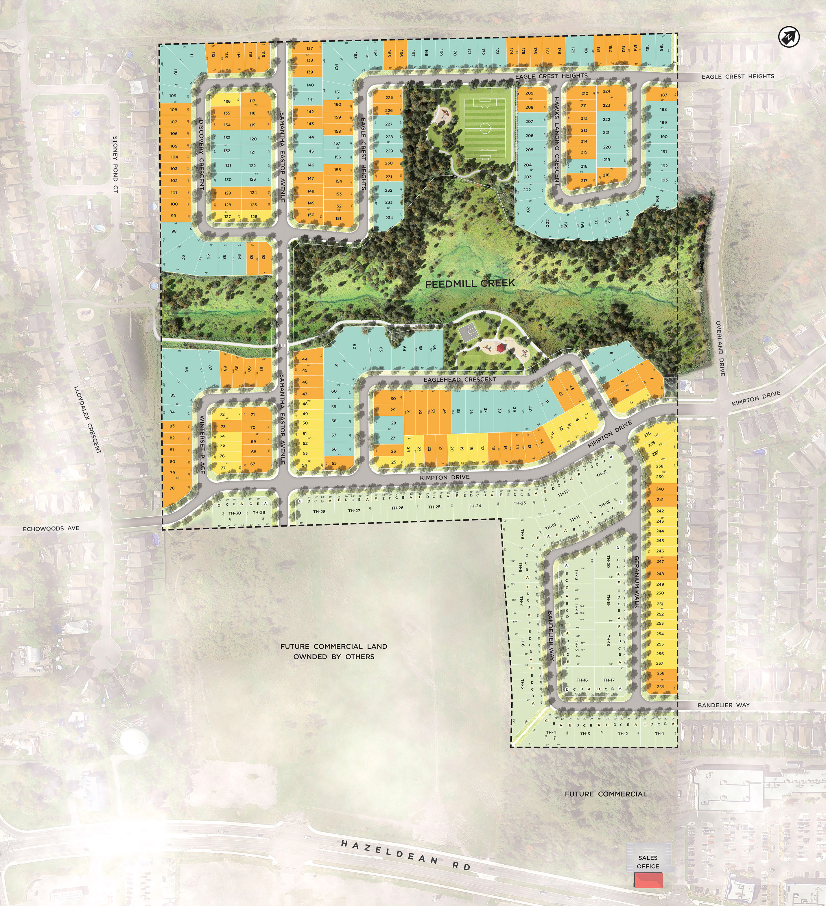 Site Map Template: Potters Key – Community Site Plan - Stittsville Homes