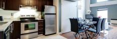 Fully furnished kitchen in Montreal