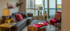 ottawa downtown rental living room