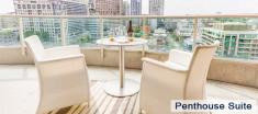 Penthouse Suite Balcony in Luxury Apartments For Rent in Yorkville Downtown Toronto