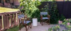 Navaho Townhomes and Garden Homes backyard