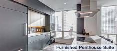 Penthouse Suite Kitchen in Luxury Apartments For Rent in Yorkville Downtown Toronto