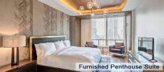 Penthouse Suite Bedroom in Luxury Apartments For Rent in Yorkville Downtown Toronto
