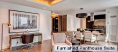 Penthouse Suite Living Room in Luxury Apartments For Rent in Yorkville Downtown Toronto