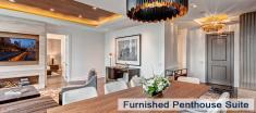 Penthouse Suite Dining Room in Luxury Apartments For Rent in Yorkville Downtown Toronto