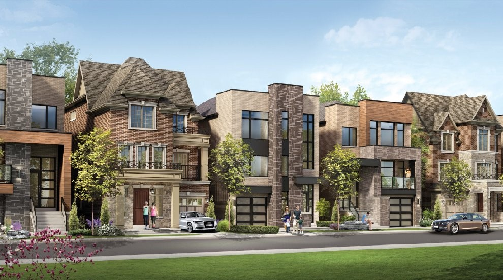 An image of different forms of townhomes l