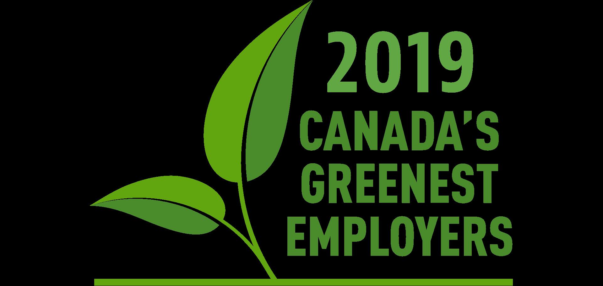 Canada's Greenest Employers logo written in green
