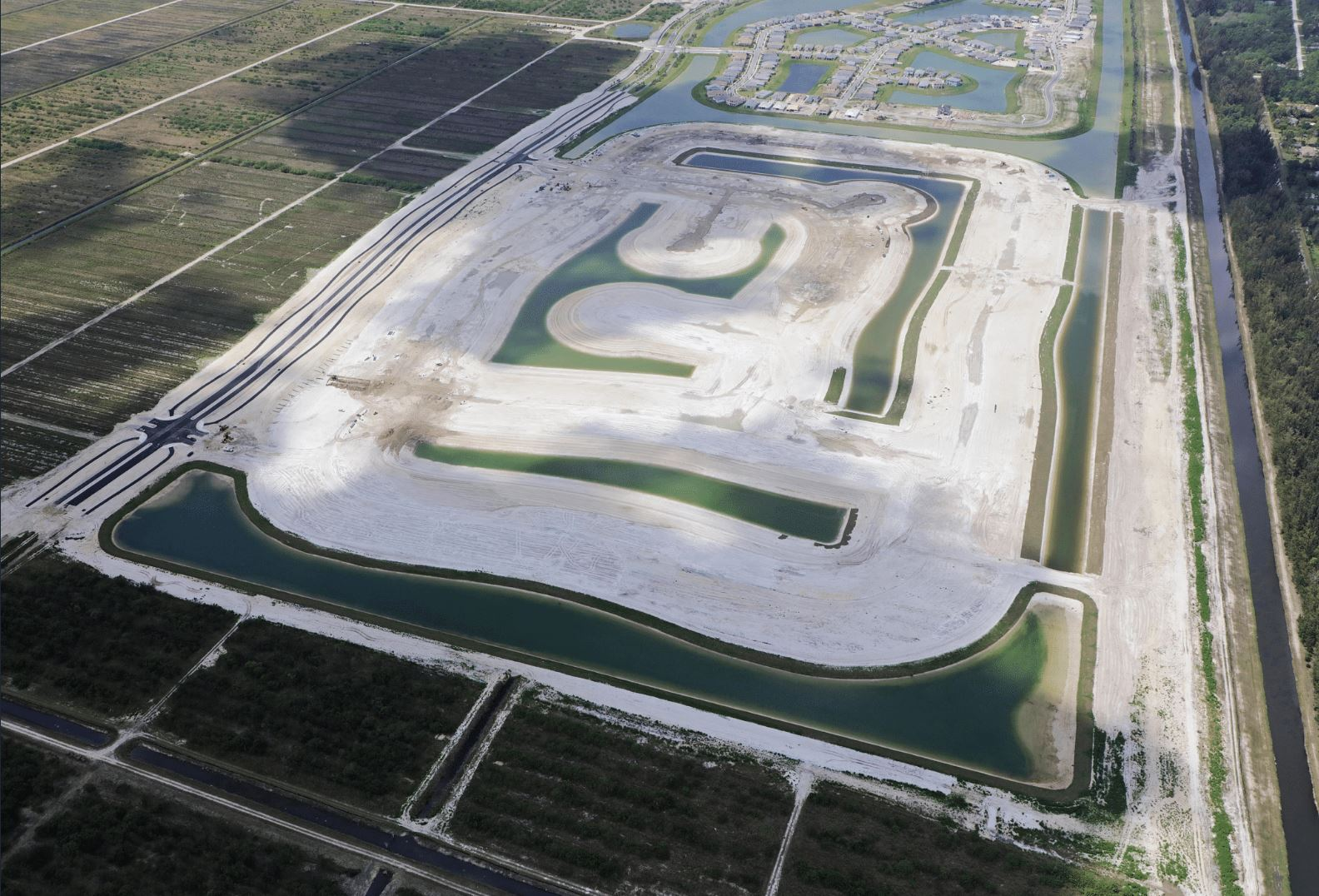 Ariel view of the Meadows development site in Westlake
