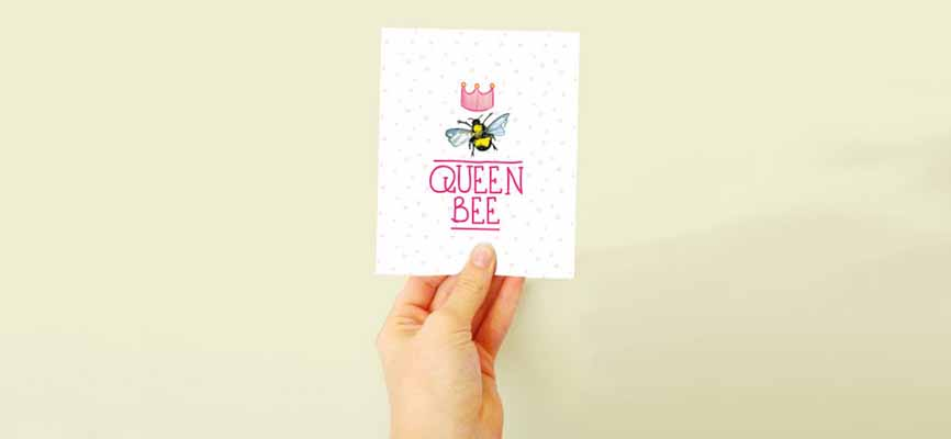 Queen Bee plantable card from Etsy