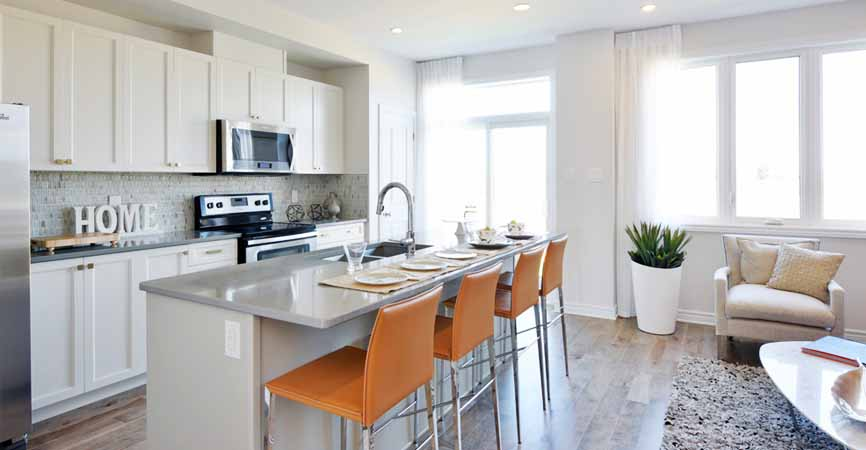 Harmony by Minto Communities, big bright kitchen with plants