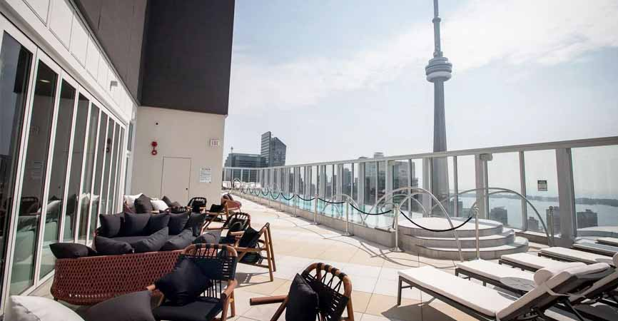 Kost rooftop in King West Toronto