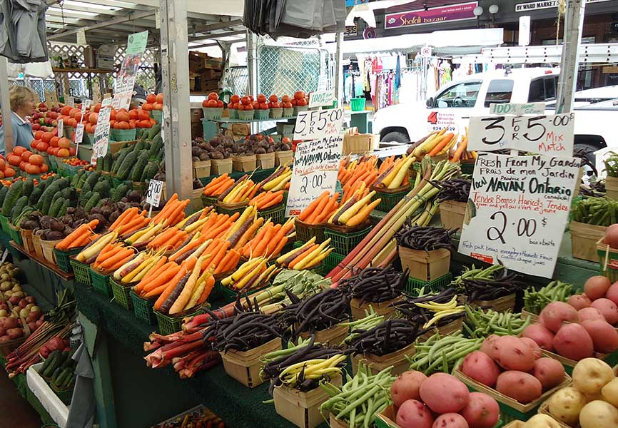 Produce rich farmers market