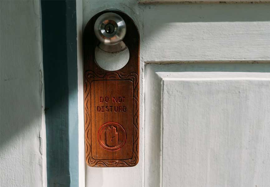 Wood do not disturb sign