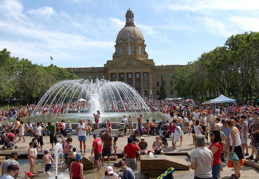 Edmonton Canada Day festivities