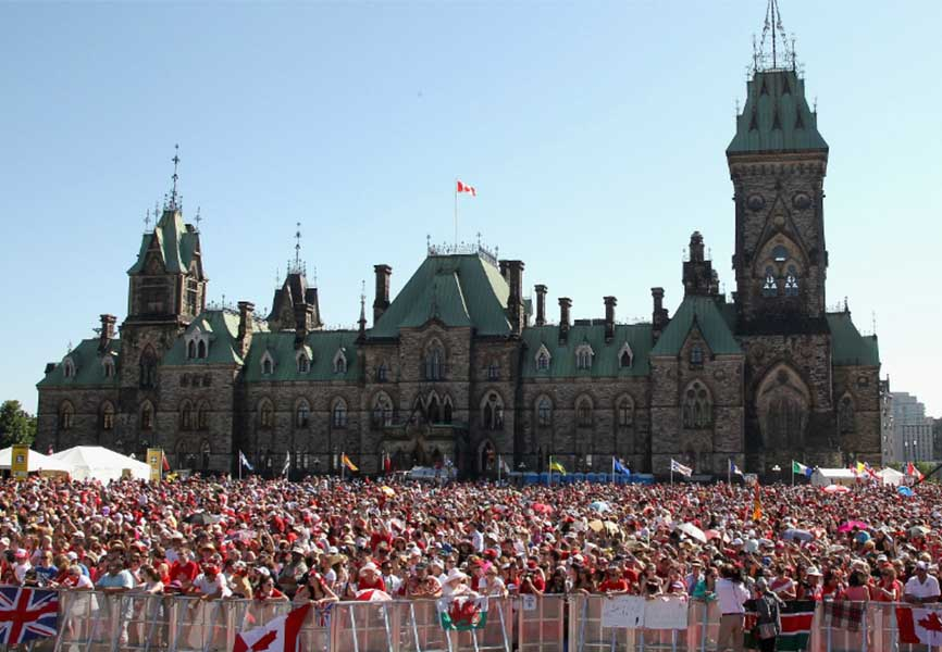 Parliament on Canada Day
