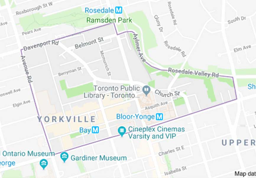 Map of Yorkville