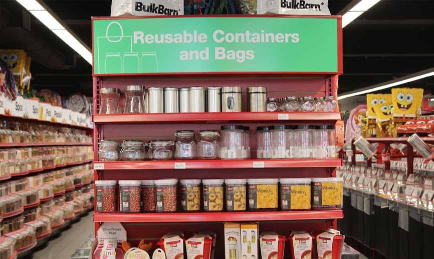 Bulk Barn reusable containers aisle