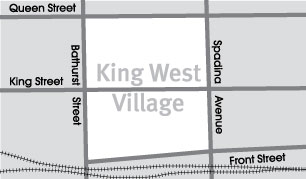 King West neighbourhood map by Toronto Neighbourhoods