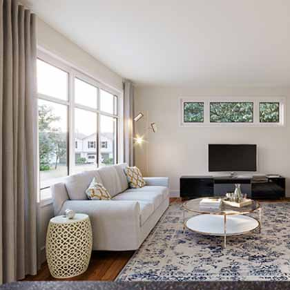 bright, spacious living room in Minto Communities Morgan's Creek community
