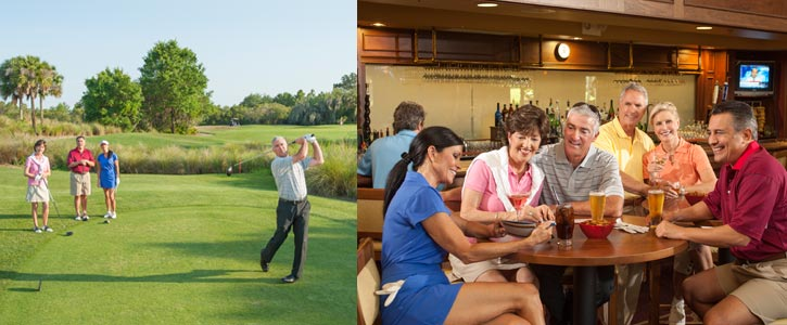 Four Golf Courses from Beginners to Low-Handicappers and Professionals