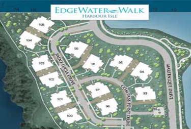 Harbour Isle Site Plan, located in Anna Maria Sound and bordered by 38 acres of greenspace and lakes.