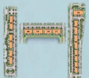 Terrace homes in Sunrise, Florida, located next to plenty of greenspace