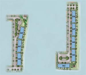 Sky villa site plan located beside our amenity centre, in Sunrise, Florida.