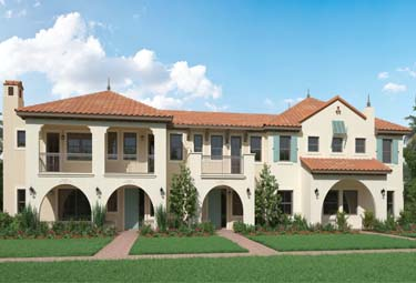 Courtyard homes in Sunrise, Florida, now on sale.