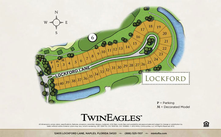 TwinEagles Lockford homes siteplan