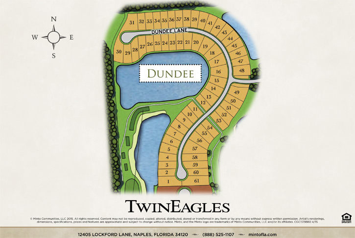 Dundee homes siteplan