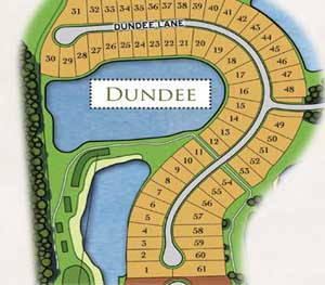 Dundee site plan, located at TwinEagles in Naples