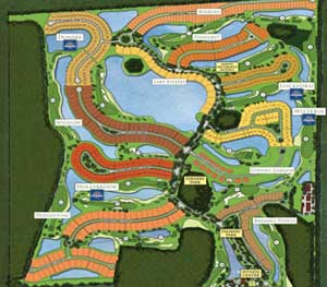 TwinEagles site plan, including 2 golf courses
