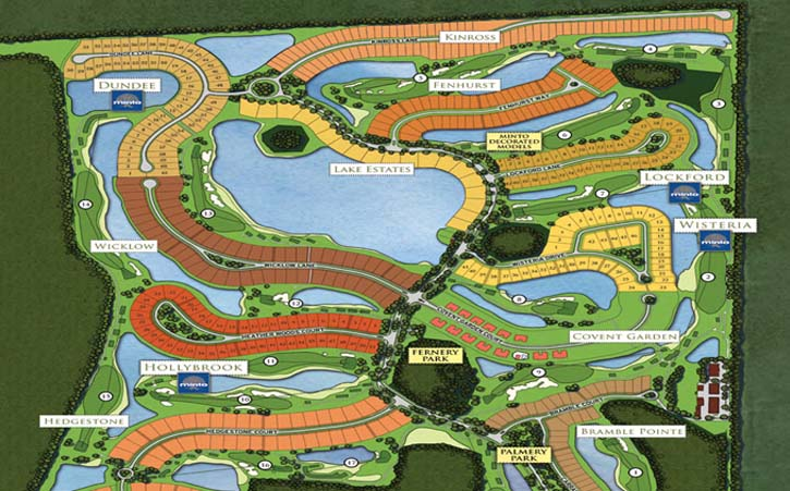 TwinEagles community site plan in Naples