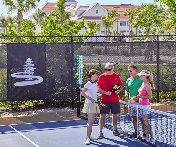 Tennis Court at Isles of Collier Preserve. Now available