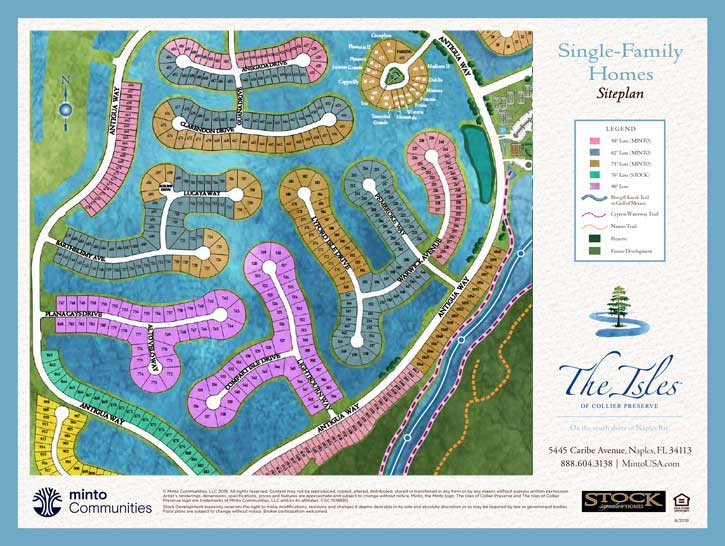 The Isles of Collier Preserve coach home site plan