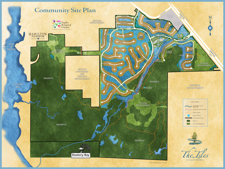 community site plan for The Isles of Collier Preserve in Naples